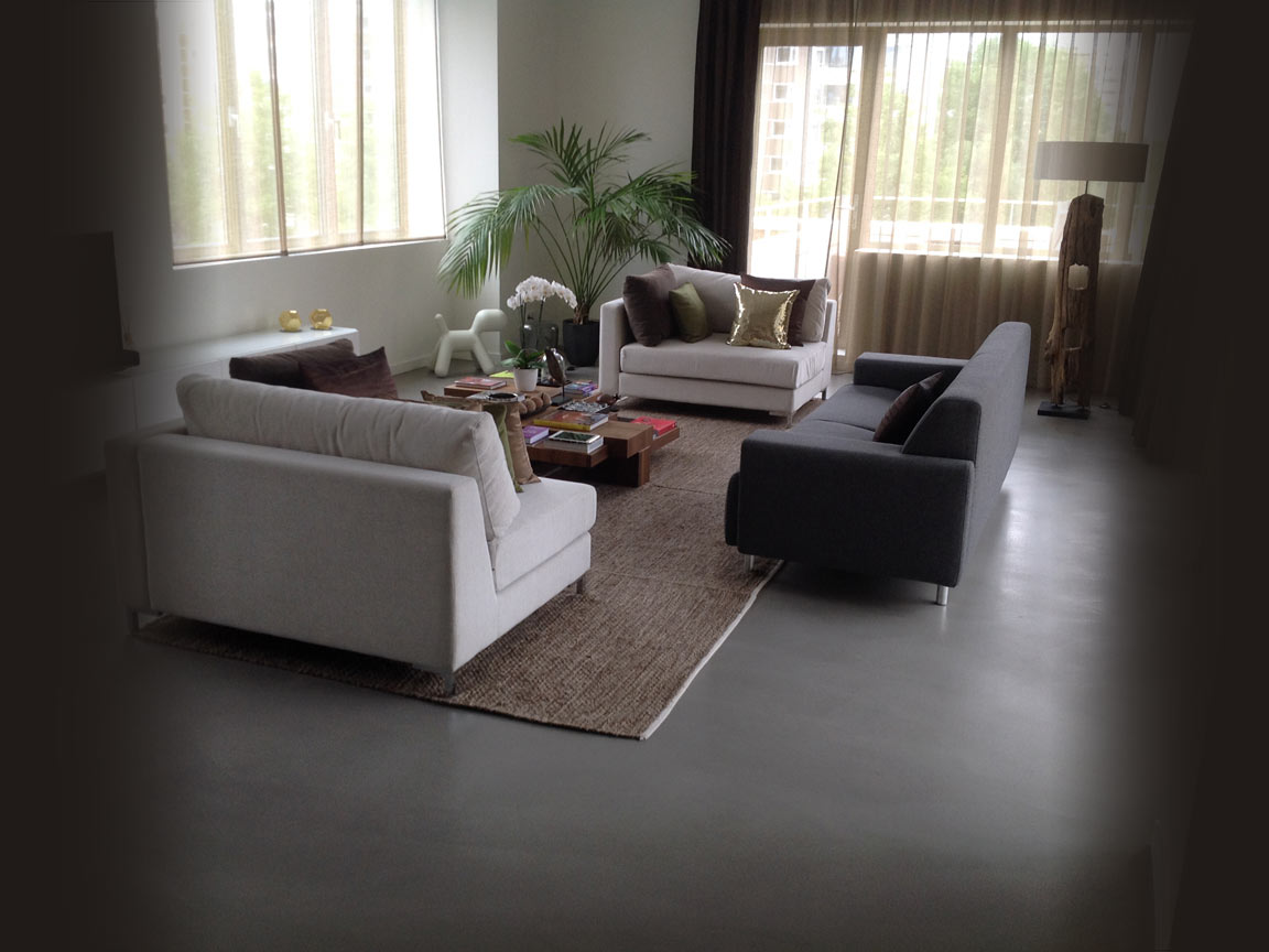 Neem een woonbeton vloer als stijlvolle nieuwe vloer